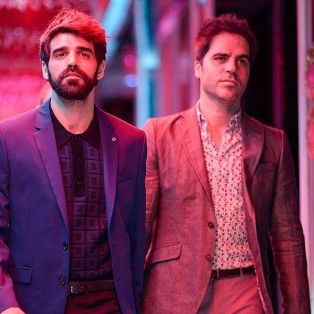 Santos, Verdaguer y Sevilla en la comedia Lo dejo cuando quiera (2019) (Telecinco Cinema)