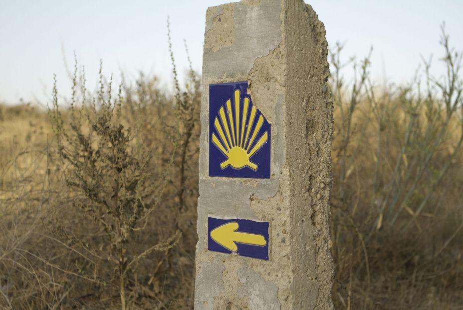 bigstock Sign Of Camino De Santigo Via 336823702