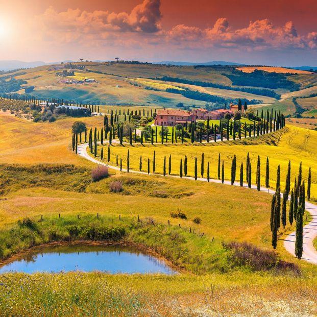 La región de la Toscana (bigstock)