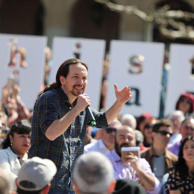 Pablo Iglesias, líder de Podemos, en un reciente acto