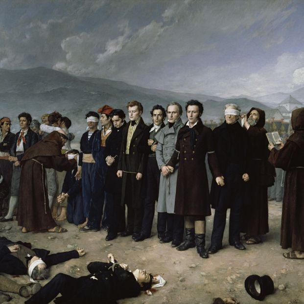 Fusilamiento de Torrijos y sus compañeros en las playas de Málaga de Gisbert, que se expondrá en Una Pintura para una Nación en el Prado