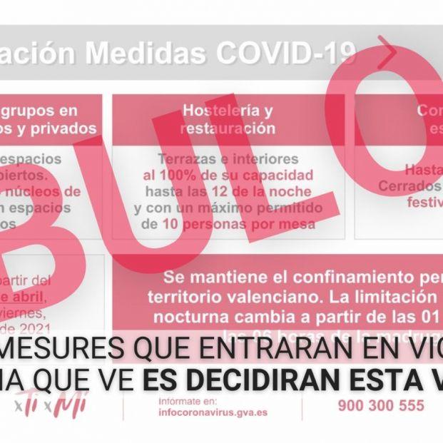 ¡Cuidado! El bulo que circula por las redes con las nuevas restricciones de la Comunidad Valenciana