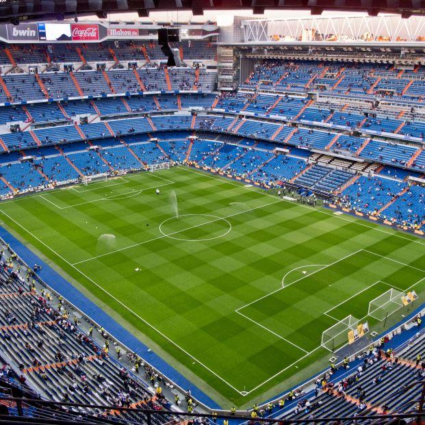 Panorámica del estadio Santiago Bernabéu haciendo el tour (Creative commons)