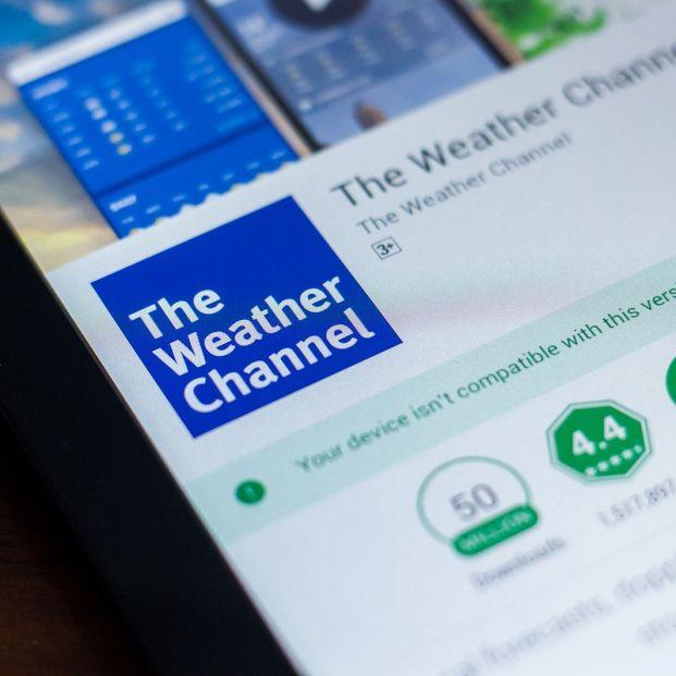 Aplicaciones para conocer la previsión del tiempo. Móvil con The Weather Channel (BigStock)