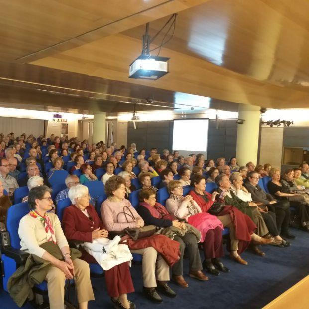 Salón de actos del Imserso donde UMER organiza sus conferencias.