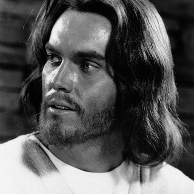 Jeffrey Hunter como Jesucristo en Rey de Reyes (1961) (MGM)