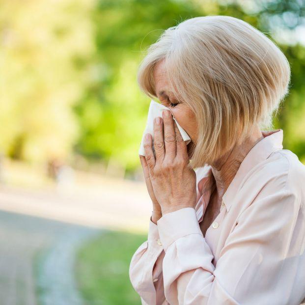 Persona adulta con gripe
