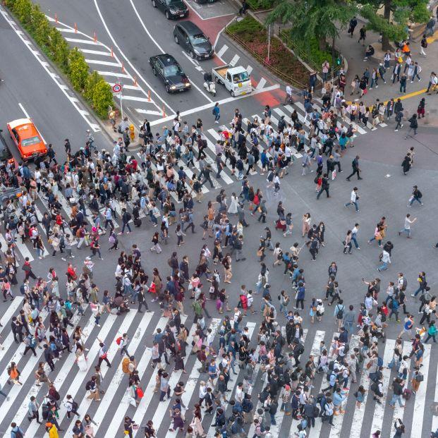 Los peatones cruzan pasos de cebra siguiendo un principio matemático