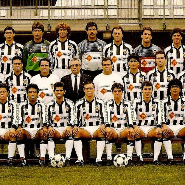 Un clásico de nuestro fútbol. Castellon temporada 1989 1990, años antes de la desaparición de 1ª y 2ª división