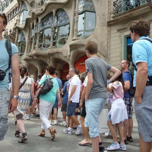 Turistas en Barcelona