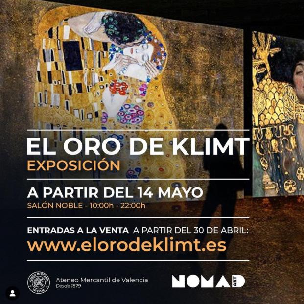 'El oro del Klimt' la exposición inmersiva del pintor austriaco llega al Ateneo Mercantil