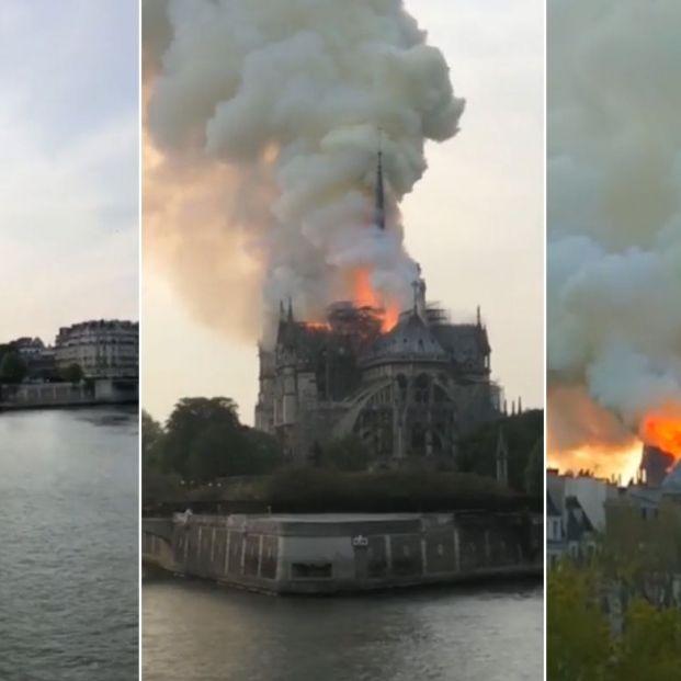 La catedral de Notre Dame, devastada por un terrible incendio