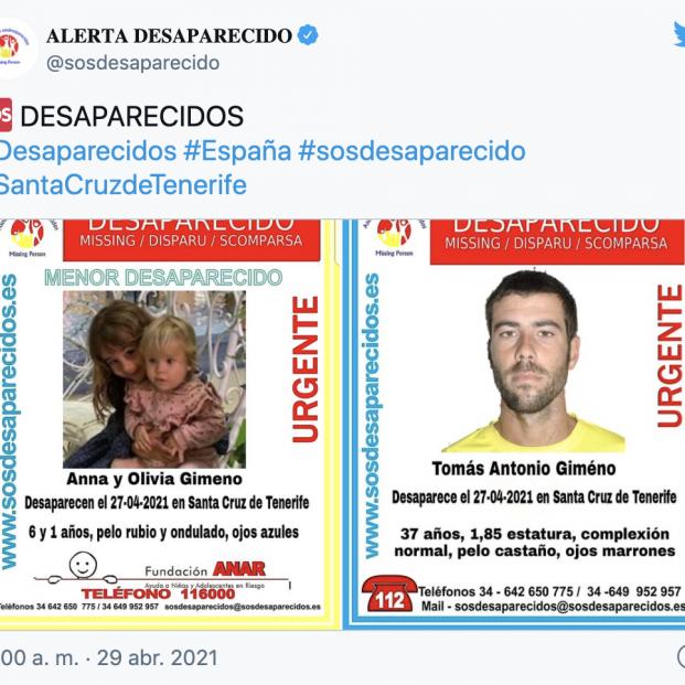 Novedades sobre los movimientos del padre de las niñas desaparecidas en Tenerife. Foto: Europa Press
