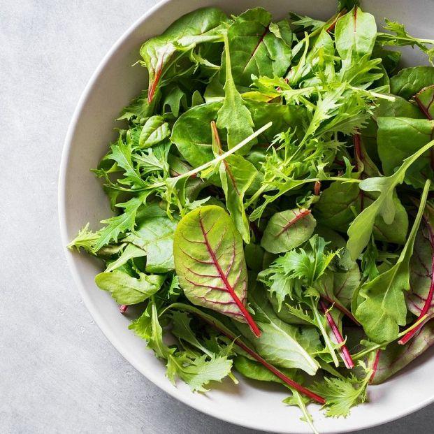 Verduras de hoja verde para aumentar la masa muscular