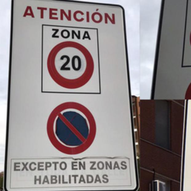 """Denuncian """"malas prácticas"""" en los cambios de señalización por los nuevos límites de velocidad"""