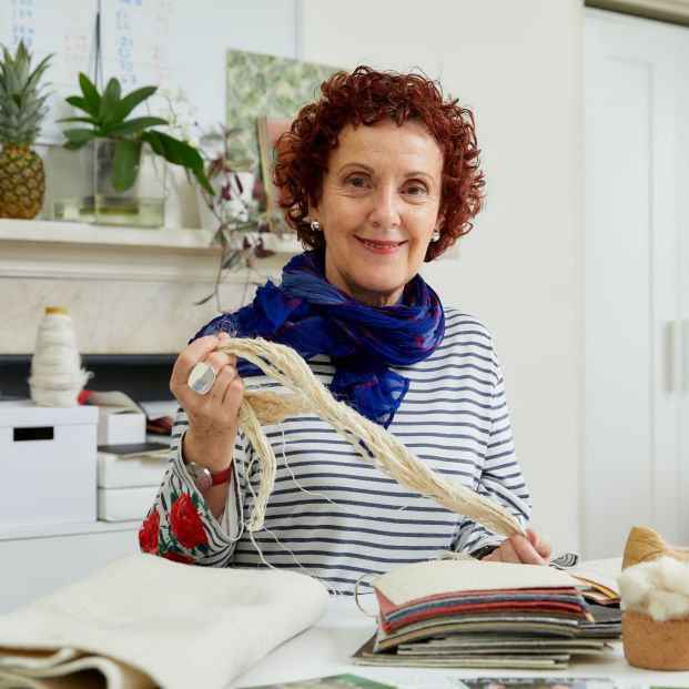 Carmen Hijosa, la española que convierte hojas de piña en una alternativa sostenible al cuero. Foto: Europa Press
