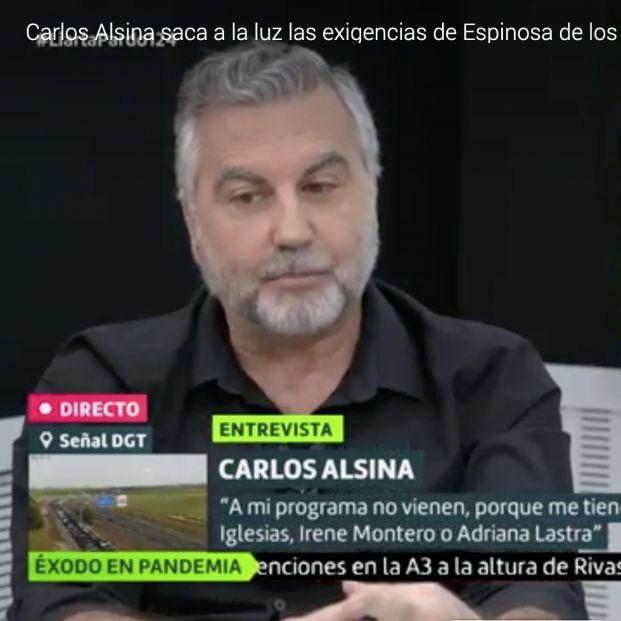 Carlos Alsina desvela las exigencias de Ivan Espinosa de los Monteros para poder entrevistarlo