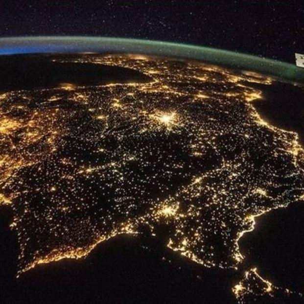 Un astronauta observa España desde el espacio, habla de una ciudad y se hace viral. Foto: Europa Press