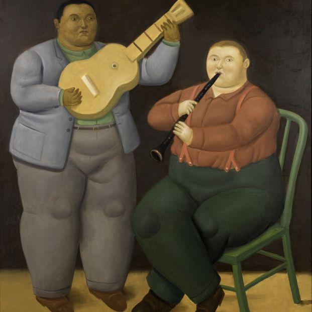 Músicos, óleo sobre lienzo. Fernando Botero. Pinturas recientes. Marlborough 2019