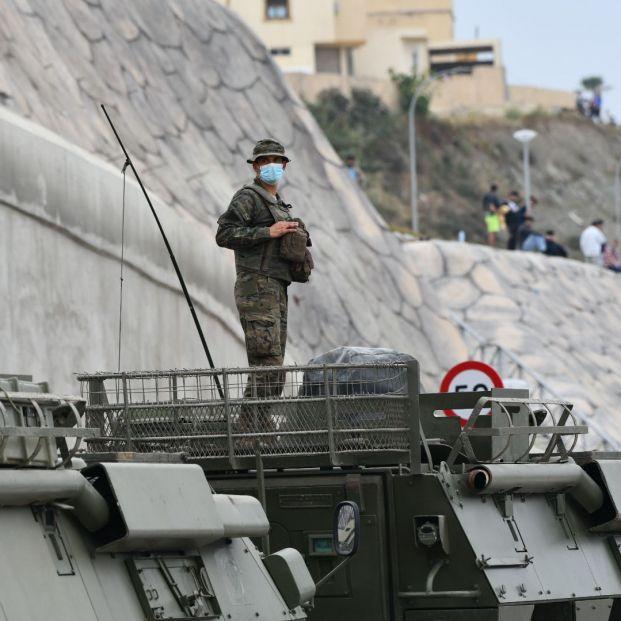 Marruecos cierra la frontera con España e interrumpe el éxodo migratorio a Ceuta. Foto: Europa Press