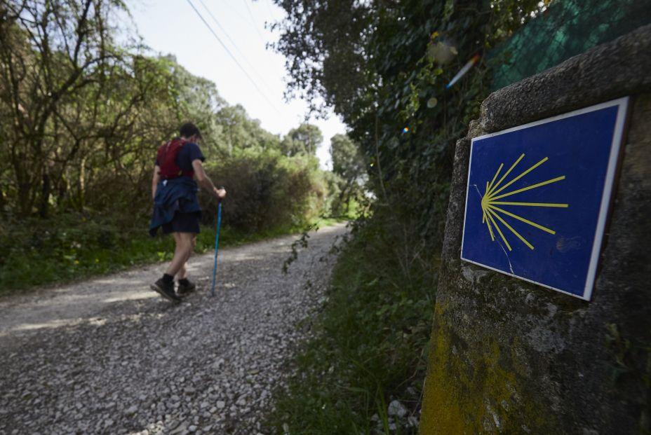 Nunca pierdas de vista la indicación amarilla del Camino de Santiago y no te aventures por sendas no señalizadas