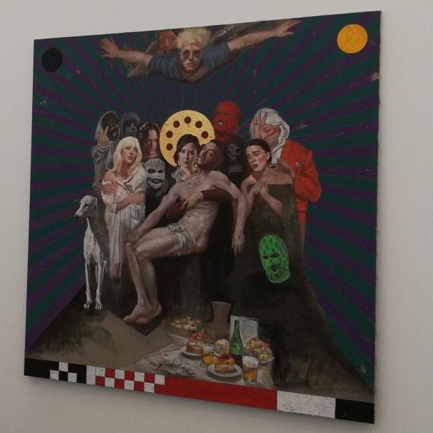 Ayuso y C. Tangana, representados en una nueva versión de la 'Piedad' en la feria 'Art Madrid'. Foto: Europa Press