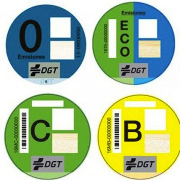 Los distintivos ambientales de la DGT, obligatorios en Madrid desde este miércoles