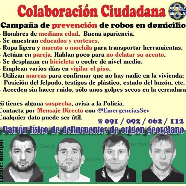 Alerta por robos en viviendas en Sevilla: este es el perfil de los ladrones