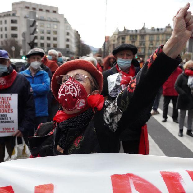 """Pensionistas vascos se movilizan por el """"inadmisible"""" maltrato a los mayores durante la pandemia. Foto: Europa Press"""
