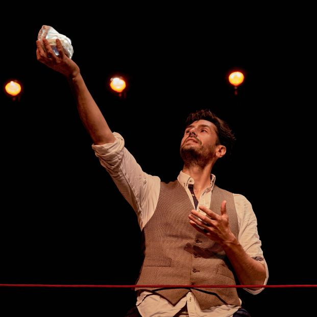 Juan Diego Botto se mete en la piel de Lorca en 'Una noche sin luna', en el Teatro Español. Foto: Europa Press