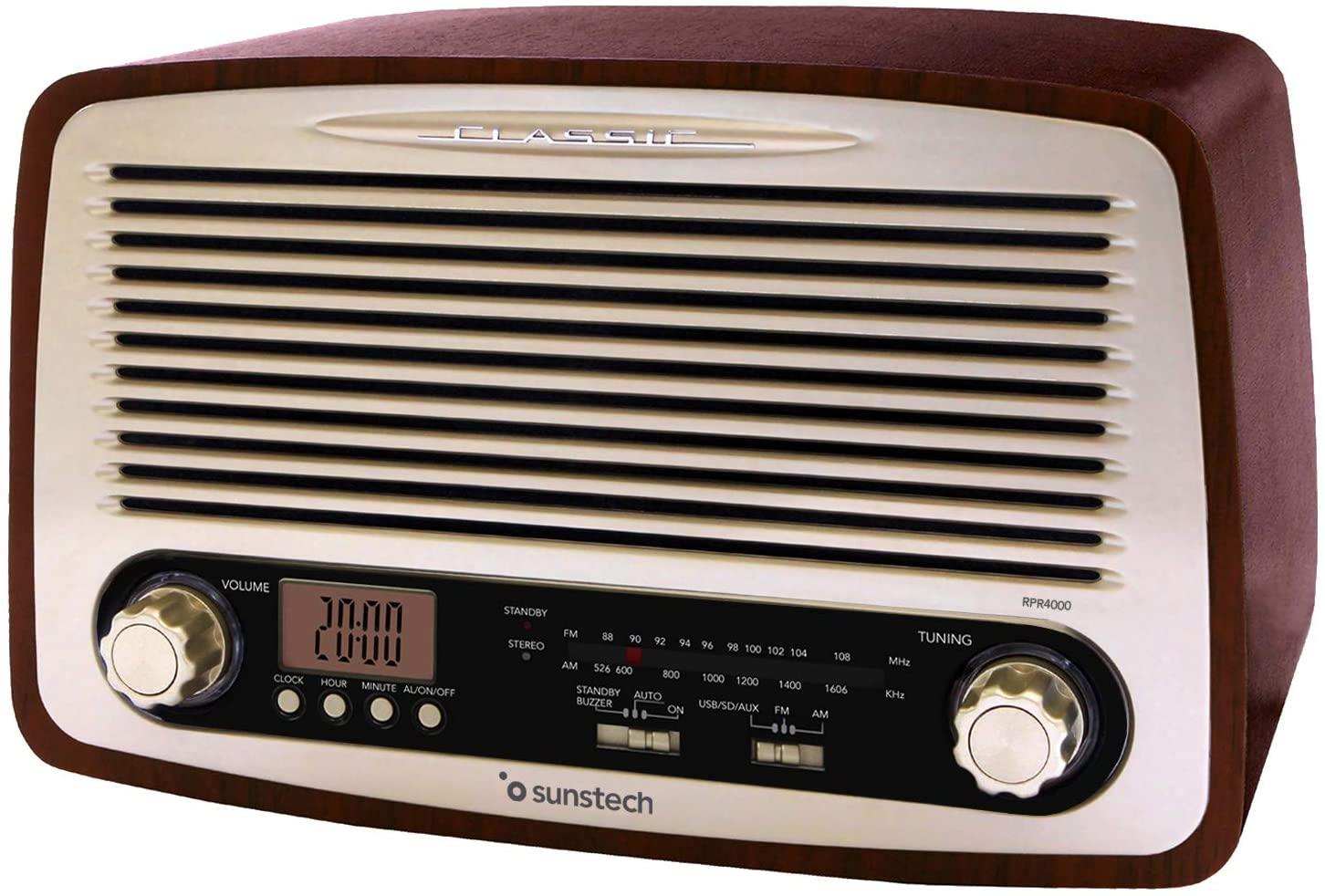 Amazon Radio Sunstech RPR4000, Radio de Sobremesa, Madera