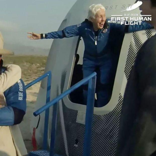 Wally Funk se toma la revancha y entra en la historia espacial a los 82 años