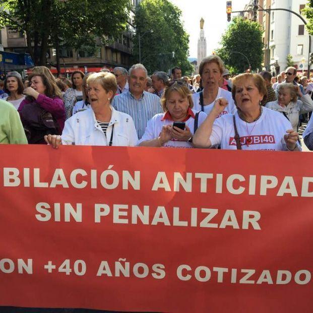 Manifestación de Asjubi40 (Foto, Asjubi40)