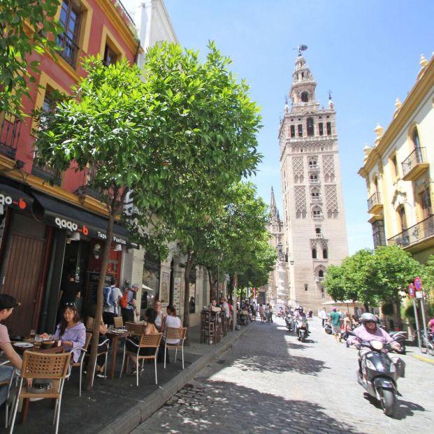 Calle Mateos Gago de Sevilla, una de las más emblematicas de la ciudad