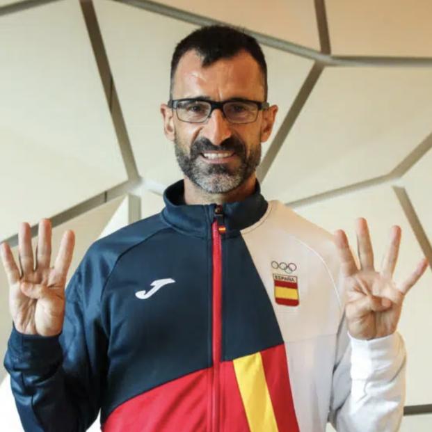 El mito 'Chuso' García Bragado para la marcha a los 51 años y tras ocho Juegos Olímpicos. Foto: Europa Press
