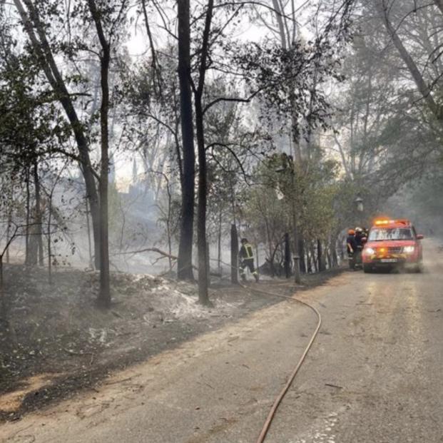 Guardia Civil abre investigación del origen del incendio de Batres como intencionado o imprudente. Foto: Europa Press