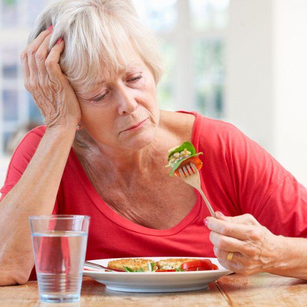 Hiporexia, o pérdida de apetito con la edad (bigstock)