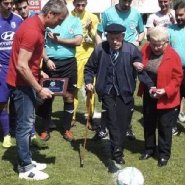 El leonés Saturnino de la Fuente ya es el hombre más longevo del mundo con 112 años. Foto: Europa Press