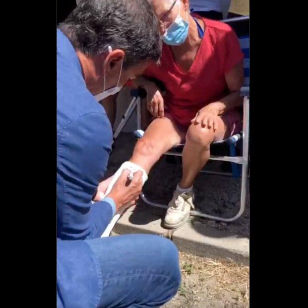 VÍDEO: El gesto de Pedro Sánchez con una vecina de Sotalbo que se ha hecho viral