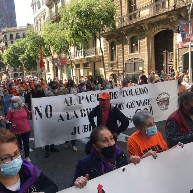 """Movimientos de pensionistas rechazan el acuerdo entre el Gobierno y los llamados """"agentes sociales"""". Foto: Europa Press"""