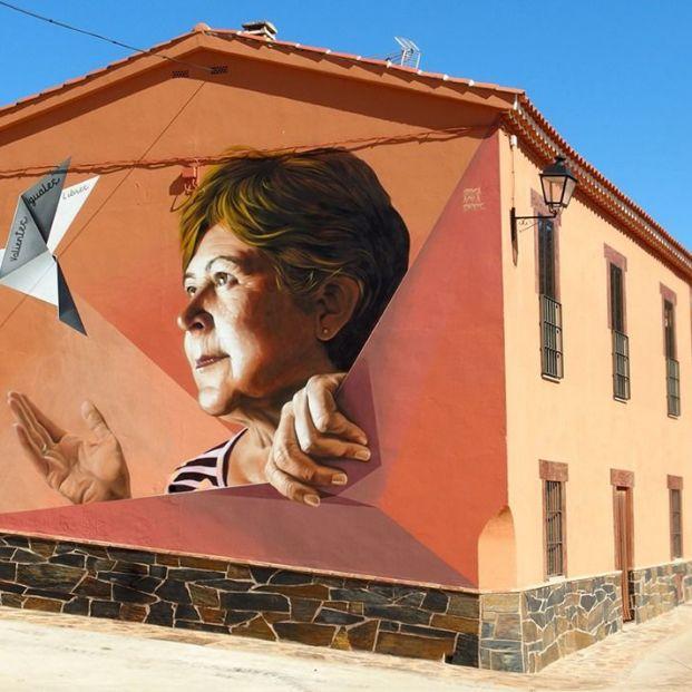 Un pueblo de Cáceres convertido en un museo de arte urbano