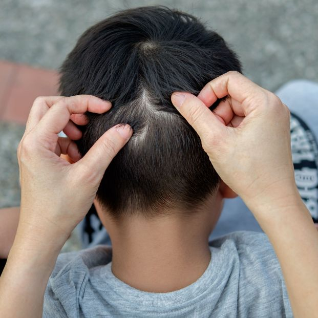 bigstock Mother Is Catching Hair To Fin 306776065
