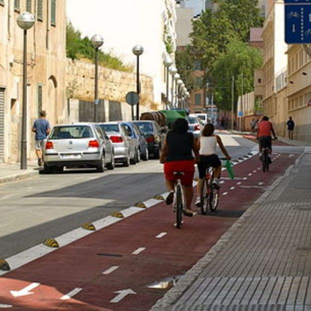 Carril bici en Palma (Creative commons)