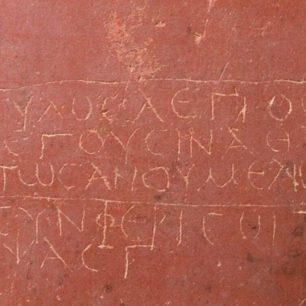 EuropaPress 3923179 poema conservado grafito habitacion piso superior cartagena espana siglo ii (1)