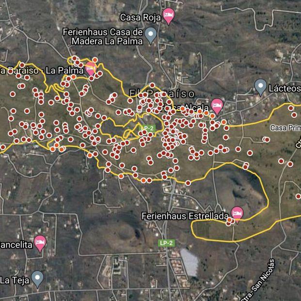 El mapa de la destrucción en La Palma: recorrido por satélite de la lava del volcán