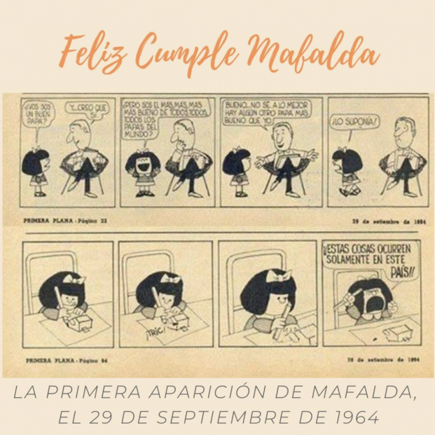 Mafalda cumple 57 años. Foto: Instagram