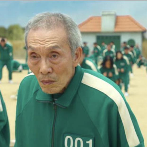 """Número 001, el personaje mayor de """"El juego del calamar"""", se hace viral (Foto Netflix)"""