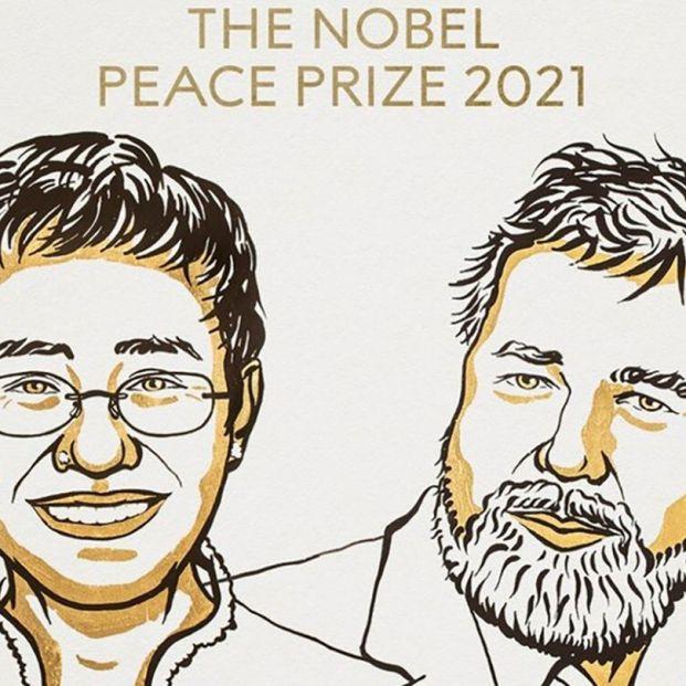Los periodistas Maria Ressa y Dimitri Muratov, Premio Nobel de la Paz 2021