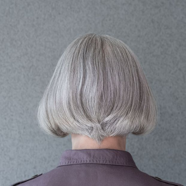 bigstock Silver haired Mature Lady On G 366705487