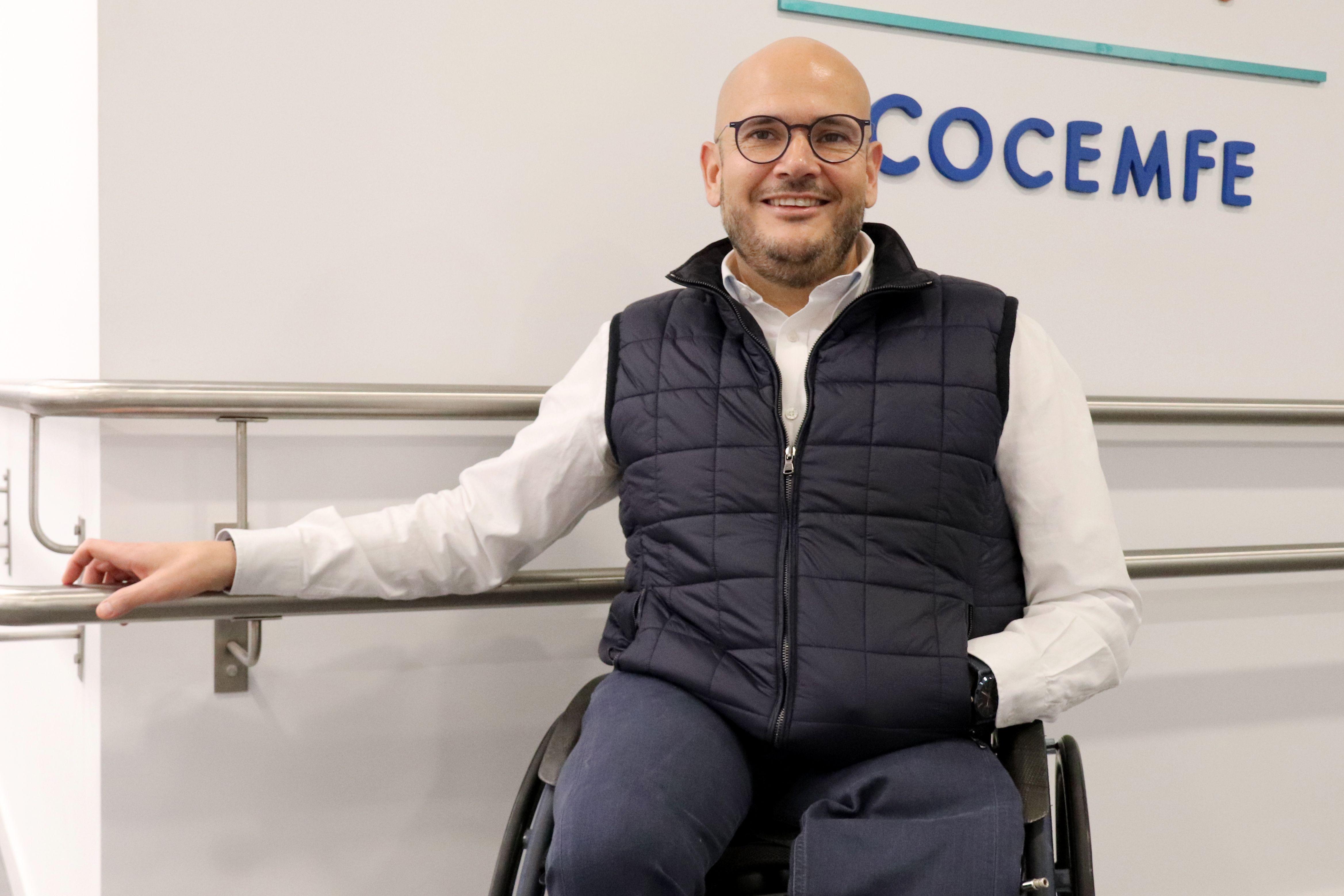 El presidente de Cocemfe, Anxo Queiruga, habla sobre discapacidad y mayores